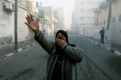 Gaza: ataque de Israel sobre Ciudad de Gaza, 14 de enero de 2009.
