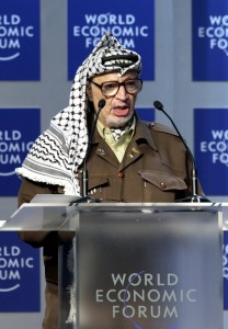 Yasser Arafat en una fotografía del World Economic Forum.