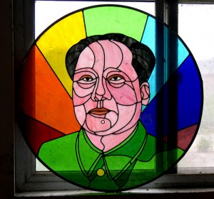 Stained Glass Mao, por Plastered T-Shirt, Flickr