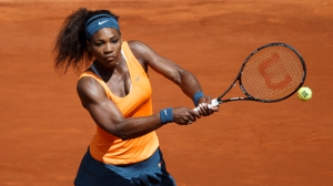 Serena Williams (31), jugando la pasada semana sobre la tierra de la capital. Fuente: Mutua Madrid Open