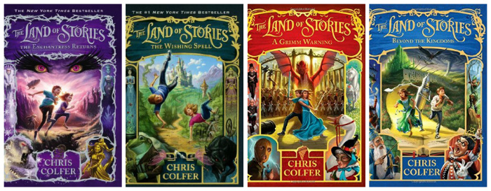 Las 4 primeras entregas de la saga Fuente: http://bolt.cd/board/f305/chris-colfer-land-stories-999646/