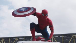 Spiderman en Capitán América: Civil War. Fuente: Youtube
